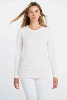 Ruched L/S Crew - Kinross Cashmere